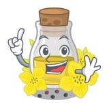 Масло семени пальца канола на мультфильме бесплатная иллюстрация