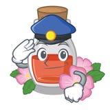 Масло семени плода шиповника полиции в бутылке мультфильма бесплатная иллюстрация