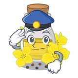 Масло семени полиции канола изолированное в талисмане бесплатная иллюстрация