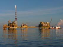 масло сложного газа оффшорное стоковые изображения