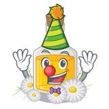 Масло стоцвета клоуна помещенное в бутылке мультфильма иллюстрация вектора