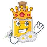 Масло стоцвета короля помещенное в бутылке мультфильма бесплатная иллюстрация