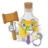 Масло стоцвета судьи помещенное в бутылке мультфильма иллюстрация вектора