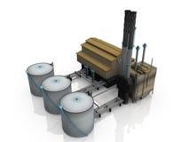 масло фабрики иллюстрация штока