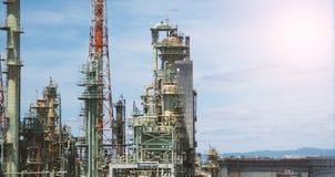 Масляный бак фабрики нефти в Осака Японии Стоковая Фотография RF