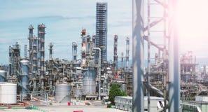 Масляный бак фабрики нефти в Осака Японии Стоковые Изображения RF