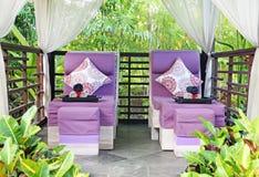 Массажный кабинет курорта в саде Стоковые Фотографии RF