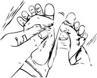 массаж иллюстрации младенца Стоковое Фото