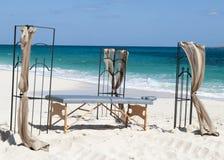 Массаж пляжа карибского острова Стоковые Фото