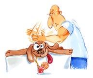 массаж собаки Стоковые Фотографии RF