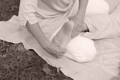 массаж Стоковые Фото