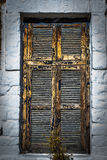 Массивнейшее деревянное окно Стоковые Изображения RF