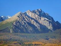 Массивнейшие пики высокого Tatras в осени Стоковые Фото
