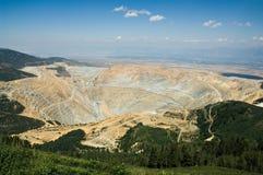 массивнейший открытый карьер шахты Стоковая Фотография