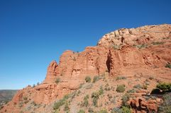 Массивный величественный памятник красного песчаника в u S Юго-запад в естественном свете стоковое фото