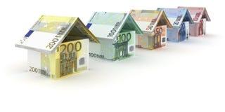 Массив дома евро иллюстрация штока