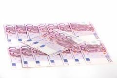 Массив кредиток евро Стоковые Изображения RF