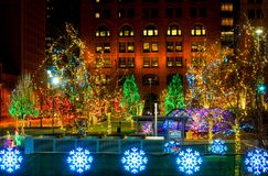 Массив освещения рождества Стоковое Изображение RF
