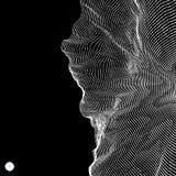Массив с динамическими частицами стиль технологии 3D абстрактная предпосылка Стоковое фото RF