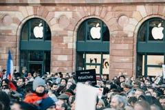 Массовое ралли единства держало в страсбурге следовать за недавним террористом a Стоковое Фото