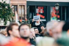 Массовое ралли единства держало в страсбурге следовать за недавним террористом a Стоковое фото RF