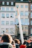 Массовое ралли единства держало в страсбурге следовать за недавним террористом a Стоковые Изображения RF
