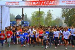 Массовый бег старта Стоковая Фотография RF