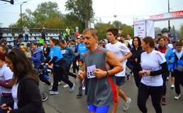 Массовый бег старта Стоковое Изображение RF