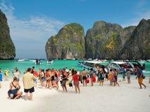 Массовый туризм в Таиланде Стоковое Фото