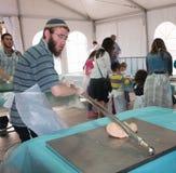 Мастерская выпечки Matzah Стоковые Фотографии RF