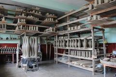 Мастерская гончарни - Marginea, Bucovina Стоковое Изображение RF