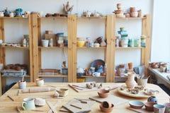 Мастерская керамического мастера Стоковая Фотография