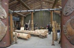Мастерская острова Granville деревянная высекая Стоковая Фотография