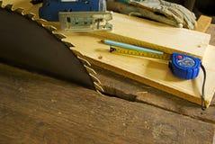мастерская работы предпосылки деревянная Стоковая Фотография