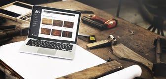 Мастерская ремесленничества плотничества мастерства плотника деревянная Conc стоковое фото rf