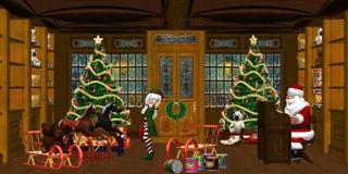 мастерская рождества Бесплатная Иллюстрация