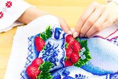 Мастерская шить и вышивки/рабочее место Стоковое Изображение RF