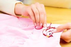 Мастерская шить и вышивки/рабочее место Стоковые Фотографии RF