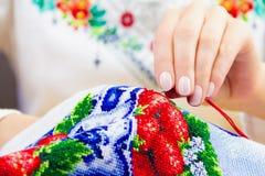 Мастерская шить и вышивки/рабочее место Стоковая Фотография