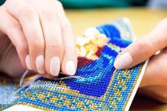 Мастерская шить и вышивки/рабочее место Стоковая Фотография RF