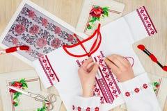 Мастерская шить и вышивки/рабочее место Стоковые Фото