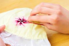 Мастерская шить и вышивки/рабочее место Стоковые Изображения