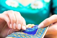 Мастерская шить и вышивки/рабочее место Стоковое фото RF
