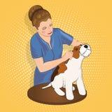 Мастерский салон для животных уравновешивая собаку Стоковое Изображение RF