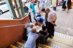 Мастеры шахмат угла улицы стоковое фото