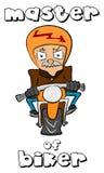 Мастер велосипедиста Стоковые Фотографии RF