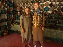 Мастер и покупатель, Istalif стоковое фото