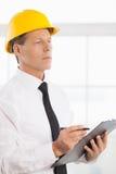 Мастер конструкции. стоковое изображение