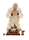 Мастер церемонии чая стоковое изображение rf