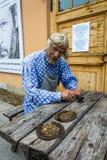 Мастер Levsha в крепости 29-ое сентября 201 Питера и Пола Стоковое Фото